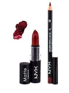 NYX Matte Lipstick Alabama Brick Red 07 and Slim Lip Liner Deep Red Set | Health & Beauty, Makeup, Lips | eBay!