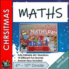 End of Term Maths Christmas Quiz 2019 - 64+ Questions in 10 varied topic question rounds.Every round is completely different and not just your boring Q and A style. Instead each round tests a different type of skill. (Guess the Present, The Emoji Round, Identify the 3D Dimensional Christmas Shape ,... Emoji Christmas, Christmas Quiz, Maths Puzzles, Math Activities, Famous Christmas Movies, End Of Term, Dimensional Shapes, Solving Equations, Teaching Resources