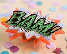 BAM! // Three layers // Comic Book Sounds Brooch!!