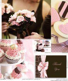 Pink + Brown Weddings