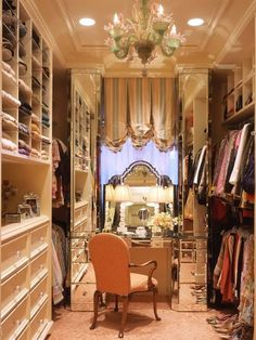 Glam closet...wish I had one of these
