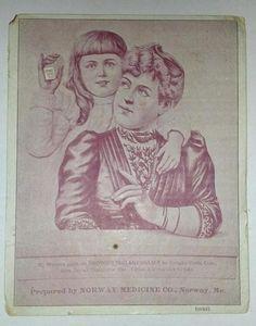 1890's Brown's Instant Relief Norway Medicine Co Victorian Trade Card