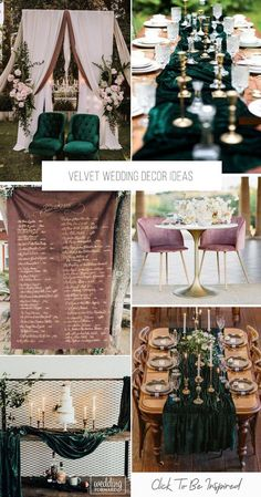 Every year the wedding decor becomes more and more unusual: new trends appear, new materials are used. Velvet wedding décor is one of the trends of Wedding Table, Wedding Ceremony, Wedding Bride, Lilac Wedding, Wedding Signage, Bouquet Wedding, Autumn Wedding, Dream Wedding, Gold Lanterns