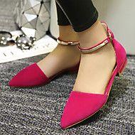 Women's+Spring+Summer+Fall+Leatherette+Outdoor+Dress+Casual+Flat+Heel+Buckle+Black+Red+Almond+–+USD+$+83.97