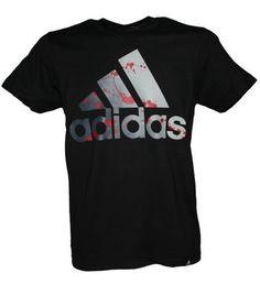 Mens Adidas Graphic Logo Shirt, T-Shirt Top - White - Black - New #adidas