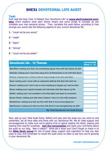 free devotional life audit bible study devotions