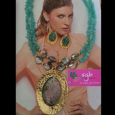Collar corto . Dije bronce nacar Abalon.  By SGB! Joyas & Accesorios