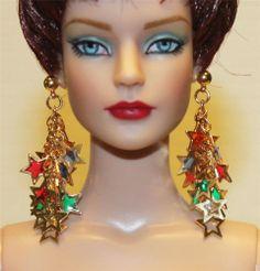"""""""Srarburst"""" GP Earrings for Tonner Tyler Antoinette Dee Anna AM Gene Sybarite"""