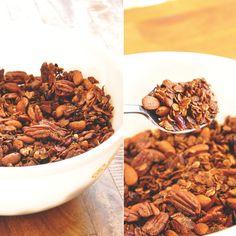 Nut and Honey Coconut Granola Recipe - Minimalist Baker  -sub maple syrup for honey