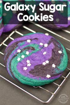 Out of This World Galaxy Sugar Cookies #MakeItYours #ad