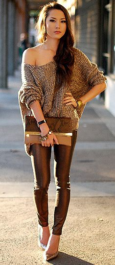 bronze & gold outfit