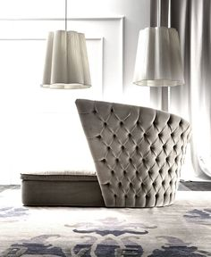 Upholstered Day Bed by Giorgio Soressi ​​tufted luxery daybed