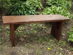 Very Unique, beautiful, Solid Black Walnut. Natural, rustic bench. Rough sawn than sanded smooth, sealed with indoor polyurethane finish. We