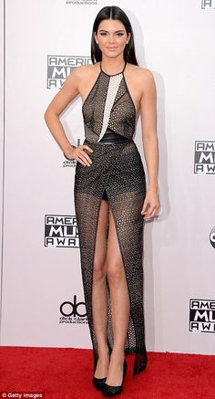 Kendall Jenner at the AMAs. via MailOnline