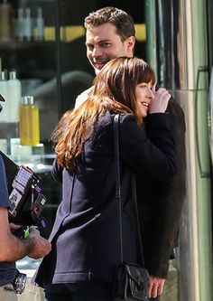 Dakota Johnson and Jamie Dornan Show Off Their Undeniable Chemistry on Fifty Shades Darker Set from InStyle.com