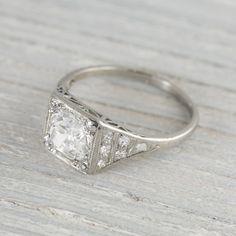 Image of 1.40 Carat Vintage Art Deco Engagement Ring