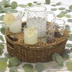 The DRH Collection Artland Summer Garden 9 Piece Glass Pitcher & Tumbler Basket Set