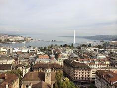 Jet D´Eau ja Geneven vanha kaupunki