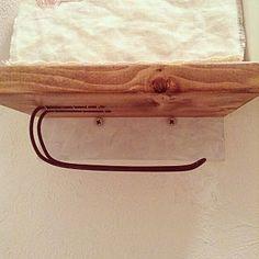 Bathroom/トイレットペーパー/DIY/ほんとはあまり見せたくない裏部分のインテリア実例 - 2013-09-30 13:29:07