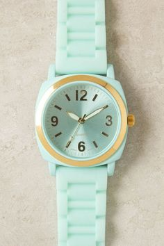 Mint green watch!! love this color!