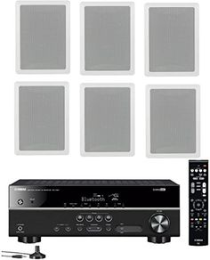 Introducing Yamaha 51Channel Wireless Bluetooth 4K AV Home Theater Receiver  Yamaha HighPerformance Natural Sound 3way inwall frontcenter speaker system Set of 6. Great product and follow us for more updates!
