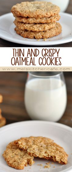 These Thin and Crispy Oatmeal Cookies are wonderful, and dipped in milk they are unreal!