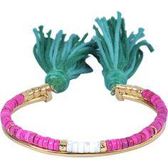 Aurelie Bidermann Sioux bracelet ($270) ❤ liked on Polyvore featuring jewelry, bracelets, green, green jewelry, aurelie bidermann jewelry and aurélie bidermann