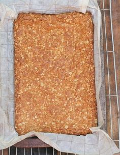 My grandmother betty's crunchie recipe: its a legend crunchie recipe Just made these and they were absolutely delicious and dead easy - added some nuts, cranberries and seed to one end of the tray and they were super yummy! Biscuit Cookies, Biscuit Recipe, Crunchie Recipes, Cadbury Recipes, Kos, Ma Baker, 13 Desserts, Plated Desserts, South African Recipes
