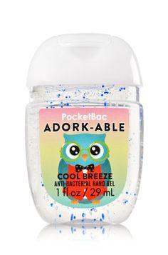 Adork-able - PocketBac Sanitizing Hand Gel - Bath & Body Works - Now with more happy! Our NEW PocketBac is perfectly shaped for pockets & purses, making it easy to kill 99.9% of germs when you're on-the-go! New, skin-softening formula conditions with Aloe & Vitamin E to leave your hands feeling soft and clean.