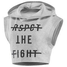 Combat Sleeveless Hoodie - Grey (S) Grey Hoodie, Cropped Hoodie, Slim Fit Hoodie, Combat Shirt, Sleeveless Hoodie, Sleeveless Tops, Sports Hoodies, Graphic Shirts, Mode Outfits
