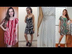 Vestido alcinha de corrente e botões Alana Santos Blogger - YouTube