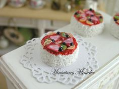 Miniature Dollhouse Fruit Cake by Minicler on Etsy