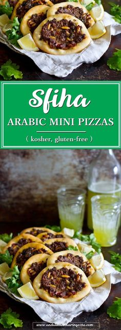 Sfiha, Arabic mini pizza is a perfect choice for meze table... or picnic. You can even make these on BBQ!   * * *   meze Middle Eastern food food blog travel blog foodietravels kosher gluten-free food photography lamb recipe