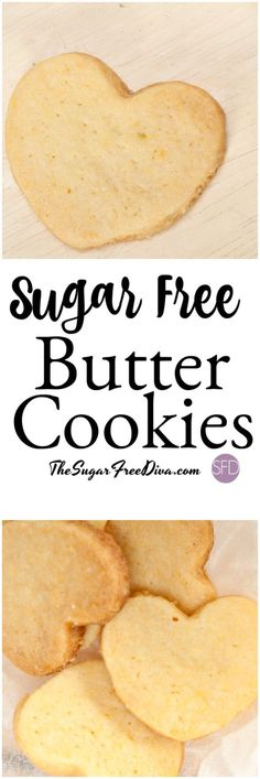This is the best and most delicious and simple recipe for Sugar Free Butter Cookies are perfect for your next dessert or gathering! Keto Cookies, Diabetic Cookies, Diabetic Snacks, Cookies Et Biscuits, Diabetic Recipes, Low Carb Recipes, Diet Recipes, Sugarless Cookies, Healthy Snacks