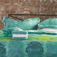 Kashgar Jade Bed Linen | Designers Guild