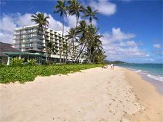Condo vacation rental in Punaluu from Listing #3010 @ VRBO.com! White sandy beach in Punaluu, North Shore Oahu.