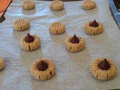 Peanut butter/peanut blossom cookies