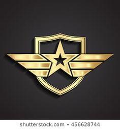 Cartera de fotos e imágenes de stock de Zsschreiner Modern Logo Design, Design Art, Shield Logo, Shield Vector, Bull Tattoos, 3d Cnc, Wings Logo, Logo Creation, Arte Horror