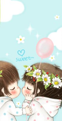 Korean Anime, Gifs, Cute Love, Baby Photos, Romantic, Kpop, Aurora, Cartoons, Glitter