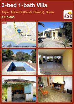 3-bed 1-bath Villa in Aspe, Alicante (Costa Blanca), Spain ►€110,000 #PropertyForSaleInSpain