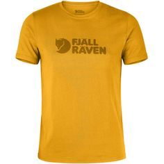 Fjallraven Men's Logo Graphic T-Shirt - Yellow - Size S (1.890 RUB) ❤ liked on Polyvore featuring men's fashion, men's clothing, men's shirts, men's t-shirts, yellow, mens crew neck t shirts, mens yellow shirt, mens t shirts, j crew mens shirts and mens graphic t shirts