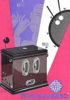 TELEFUNKEN Radio Dealer Sales Folder Model Arcolette 30W Germany 1931