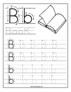 Free printable worksheet letter B for your child to learn and write - Didi coloring Page