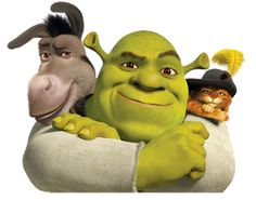 Shrek Donkey & Puss in Boots Dreamworks Movies, Dreamworks Animation, Animation Movies, New Disney Movies, Disney Pixar, Shrek Quotes, Legion Movie, Shrek Funny, Shrek Character