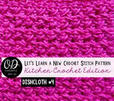 I love this stitch! It is SO easy and gives you a great texture! Try the stitch using my photo tutorial and crochet the free pattern to make my Very Basic Dishcloth - Kitchen Crochet Pattern • Oombawka Design Crochet - https://oombawkadesigncrochet.com/2015/09/very-basic-dishcloth-kitchen-crochet-pattern.html