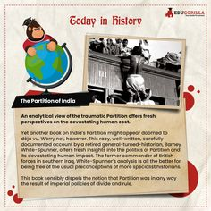 The Partition of India #todayhistory #didyouknow #didyouknowthat #edugorilla #education #learning #students #teachers #success #inspiration #motivation #knowledge #WorldWar #WorldWar1 Today History, World War, Affair, Students, Knowledge, Success, India, Writing, Motivation
