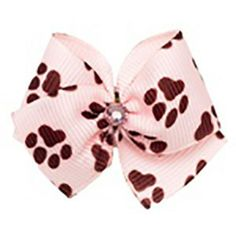 Pink Paws Dog Hair Bow – fabpuppy.com $10.00   #FabPuppy #DogHairAccessories #Dogs #Caninecouture #DogCouture #DogFashion #MalteseTerrier #PuppyHairAccessories #Pawprints #pink