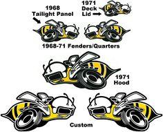 Dodge Super Bee Logo | 1968-1971, and custom Dodge Super Bee Bees Decals
