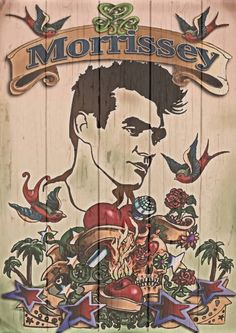 Homage to Morrissey Art Print Painting Inspiration, Art Inspo, Morrissey Tattoo, The Smiths Morrissey, Charming Man, Art Icon, Arte Pop, Bottle Painting, Will Smith