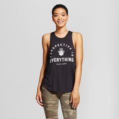 Women's Perspective Is Everything Graphic Tank Top Black Xxl - Fifth Sun (Juniors')